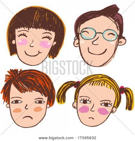 Cute cartoon vector people
