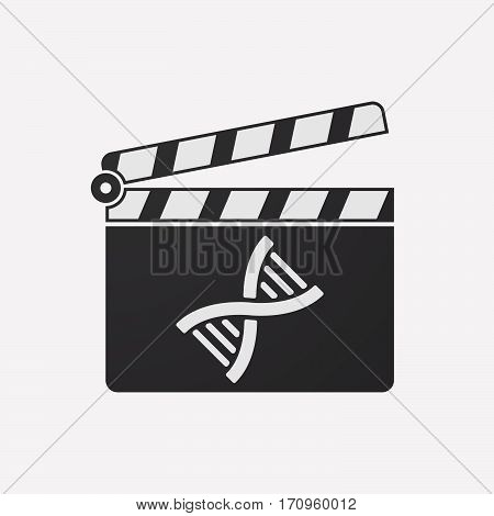 Isolated Clapper Board With A Dna Sign