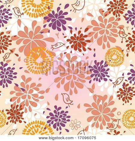 Abstract summer seamless pattern