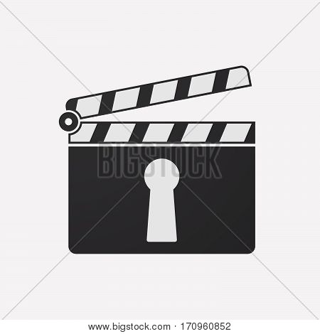 Isolated Clapper Board With A Key Hole