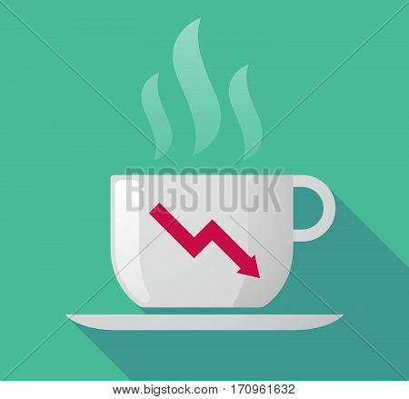 Long Shadow Mug With A Descending Graph