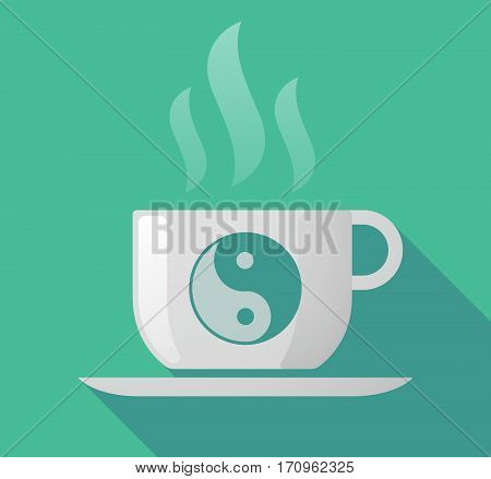 Long Shadow Mug With A Ying Yang