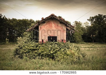 Old abandoned farm structures of the 19th century