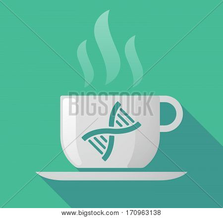 Long Shadow Mug With A Dna Sign