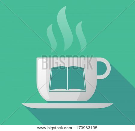 Long Shadow Mug With A Book