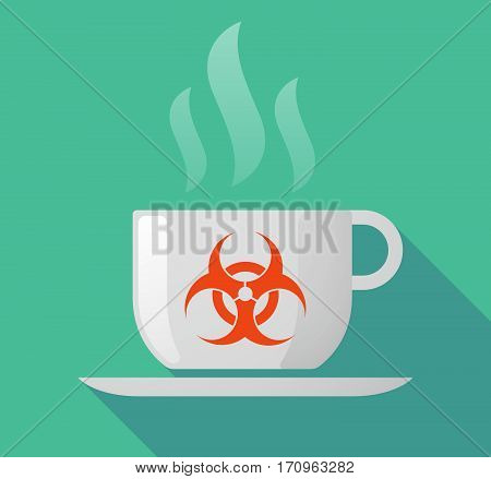 Long Shadow Mug With A Biohazard Sign
