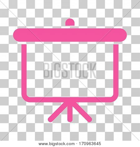 Projection Board icon. Vector illustration style is flat iconic symbol pink color transparent background. Designed for web and software interfaces.