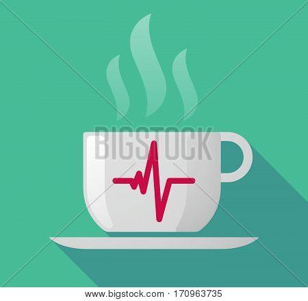 Long Shadow Mug With A Heart Beat Sign