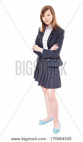 School Girl Standing