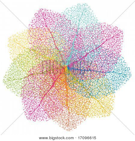 Colorful vector element. Abstract summer leafs