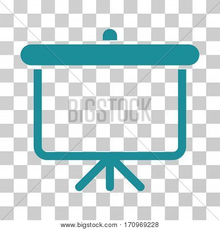 Projection Board icon. Vector illustration style is flat iconic symbol soft blue color transparent background. Designed for web and software interfaces.
