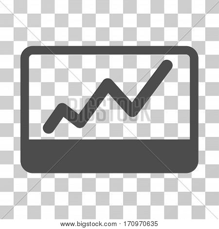 Stock Market icon. Vector illustration style is flat iconic symbol gray color transparent background. Designed for web and software interfaces.
