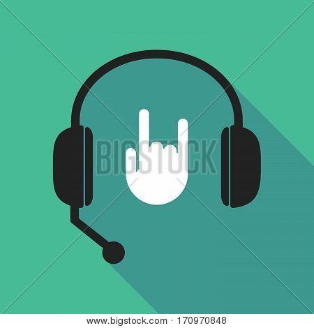 Long Shadow Headphones With A Rocking Hand