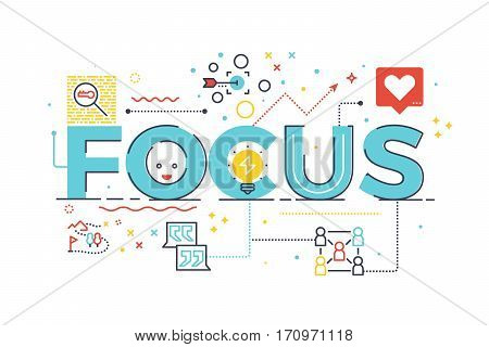 Focus Word For Business Concept