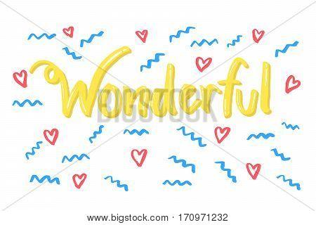 Wonderful Word Lettering