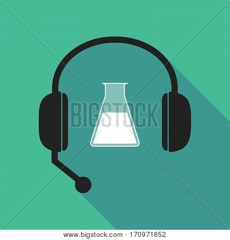 Long Shadow Headphones With A Flask