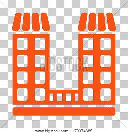 Company icon. Vector illustration style is flat iconic symbol orange color transparent background. Designed for web and software interfaces.