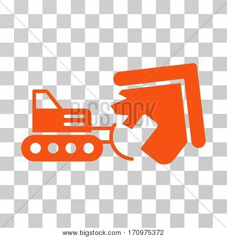 Demolition icon. Vector illustration style is flat iconic symbol orange color transparent background. Designed for web and software interfaces.