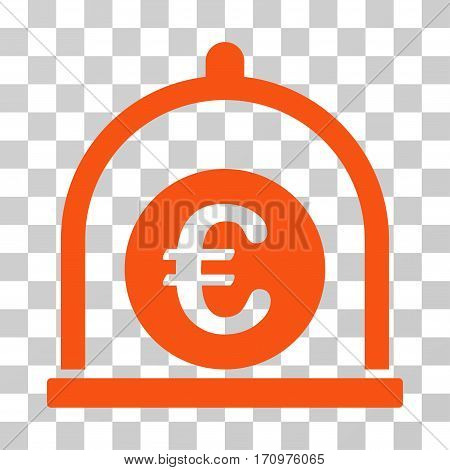 Euro Standard icon. Vector illustration style is flat iconic symbol orange color transparent background. Designed for web and software interfaces.