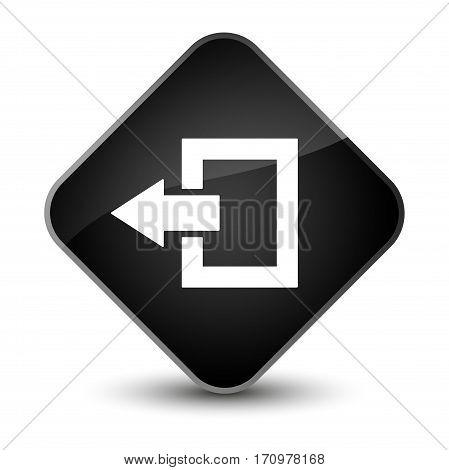 Logout Icon Special Black Diamond Button