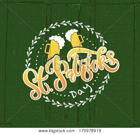 Vector Illustration Of Saint Patrick's Day Logotype