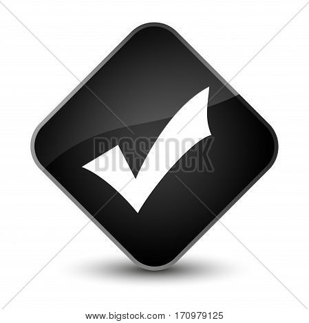 Validation Icon Special Black Diamond Button