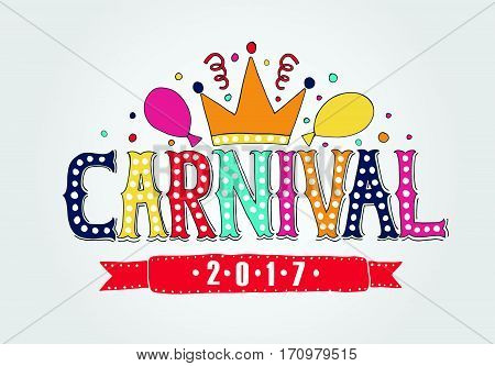 Hand Drawn 'carnival' As Carnival Fair Logotype, Badge/icon