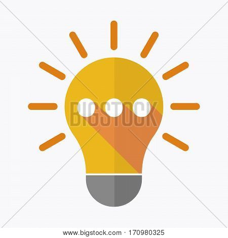 Isolated Light Bulb With  An Ellipsis Orthographic Sign