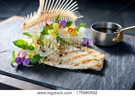 Creative Fine Dining Fish Dish