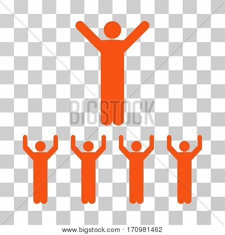 Religion icon. Vector illustration style is flat iconic symbol orange color transparent background. Designed for web and software interfaces.
