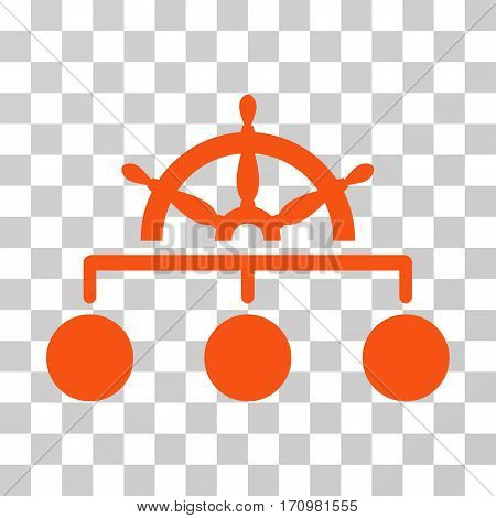 Rule icon. Vector illustration style is flat iconic symbol orange color transparent background. Designed for web and software interfaces.
