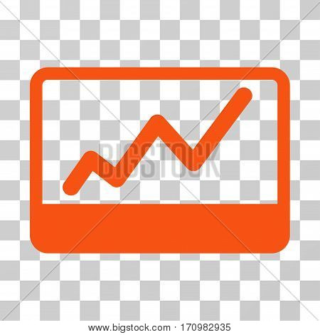 Stock Market icon. Vector illustration style is flat iconic symbol orange color transparent background. Designed for web and software interfaces.