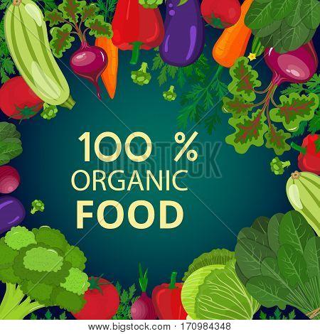 Fresh organic food.Set of vegetarian food . Vector vegetarian organic healthy food cuisine. organic natural realistic vegetable. Veggie Lover Elements