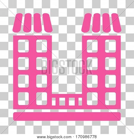 Company icon. Vector illustration style is flat iconic symbol pink color transparent background. Designed for web and software interfaces.