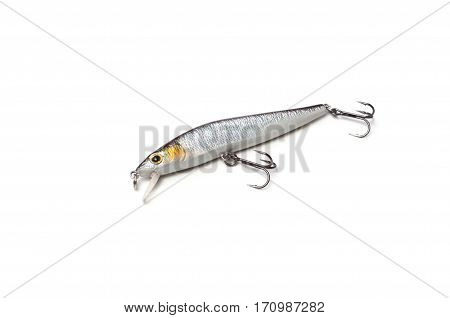Crankbait and popper lure for fishing isolated