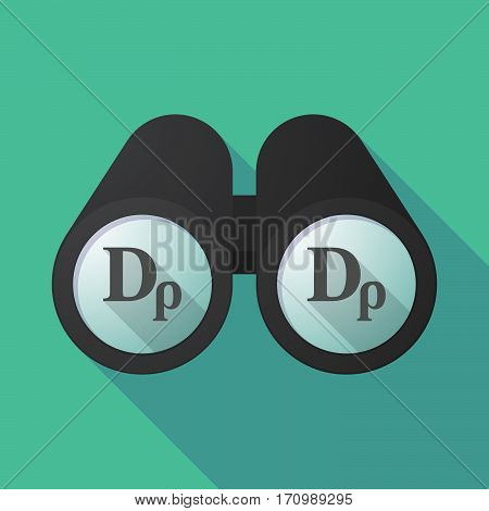 Long Shadow Binoculars With A Drachma Currency Sign