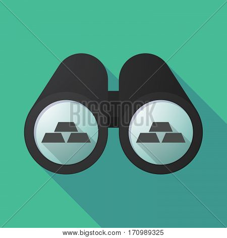 Long Shadow Binoculars With Three Gold Bullions