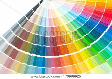 Color palette guide, paint samples, swatch catalog