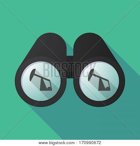 Long Shadow Binoculars With A Horsehead Pump