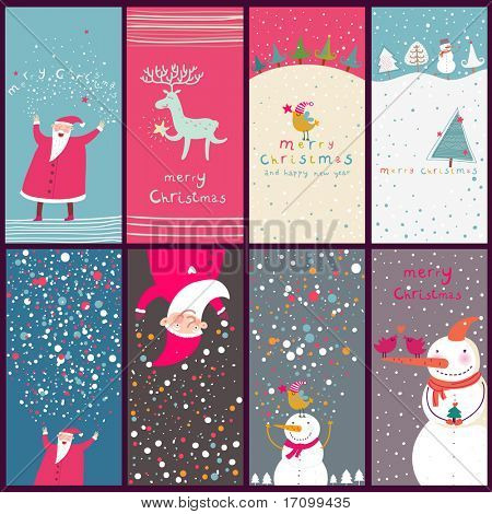 Cartoon Christmas cards