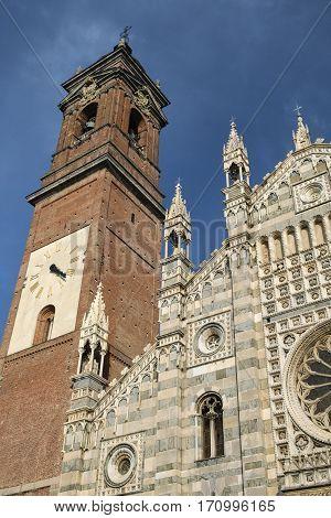 Monza (Brianza Lombardy Italy): historic cathedral exterior facade (Duomo)