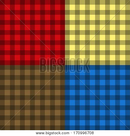 Cheskered seamless pattern vector illustration. Fashion clothing casual cotton textile design. Apparel golfing jacket. Elegant shopping pattern texture.