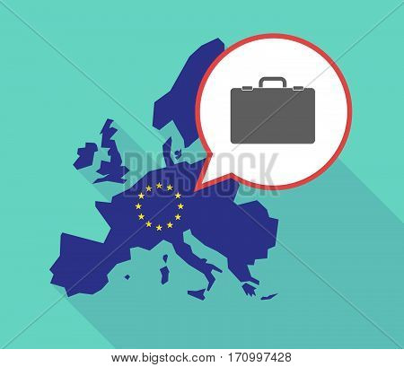 Long Shadow Eu Map With  A Briefcase