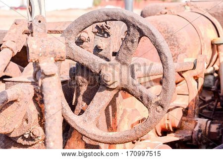 An Old Antique Steam Roller Part