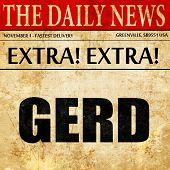 Gerd, newspaper article text poster