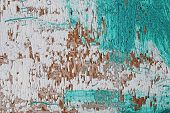 old wooden shabby paint wall. Textured background poster