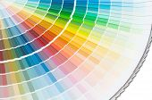 Color palette spectrum, paint guide samples catalog poster