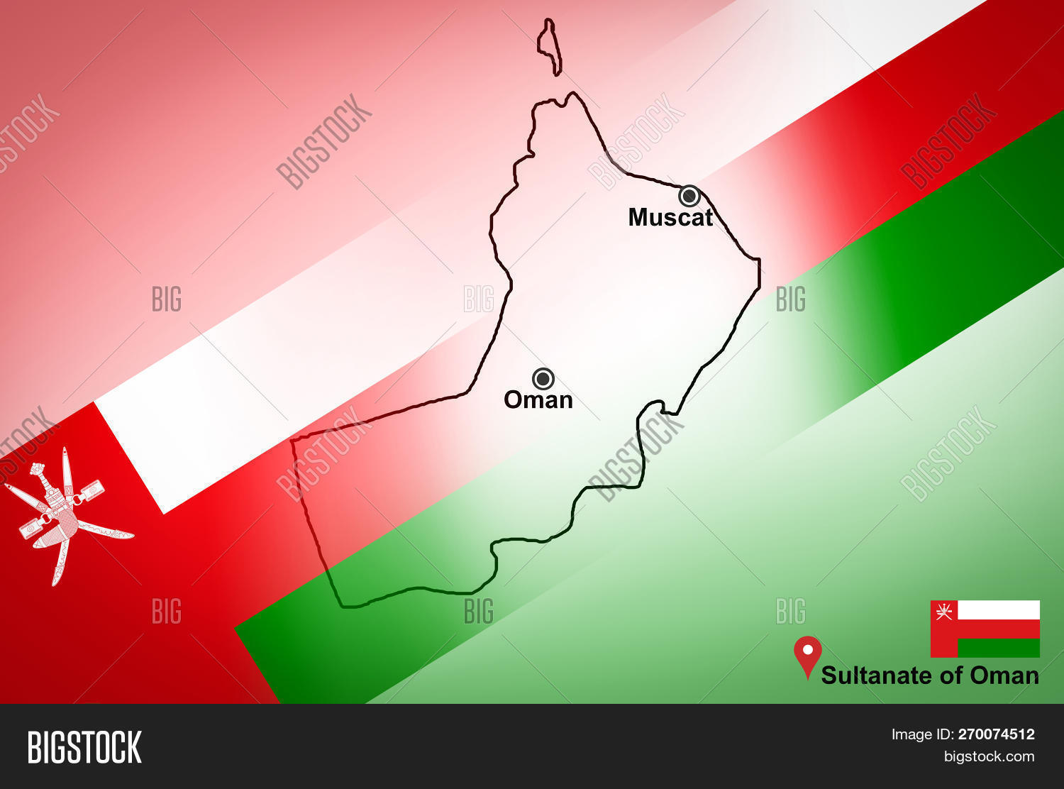 Oman Map Muscat Image & Photo (Free Trial) | Bigstock