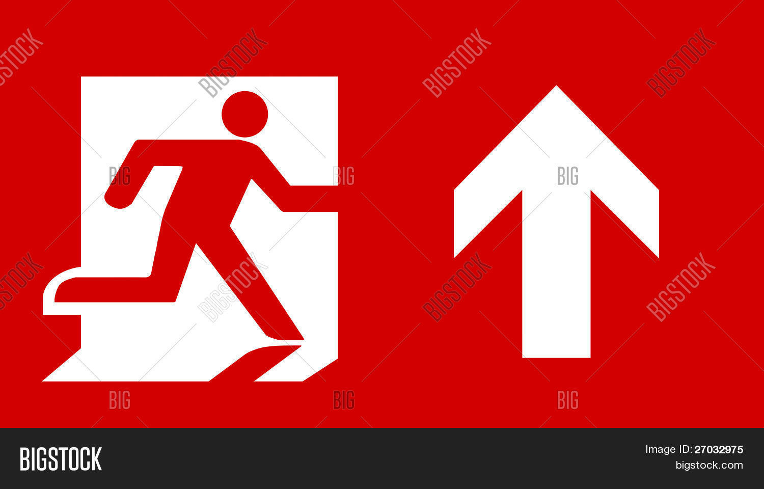 Symbol Fire Exit Sign Image Photo Free Trial Bigstock