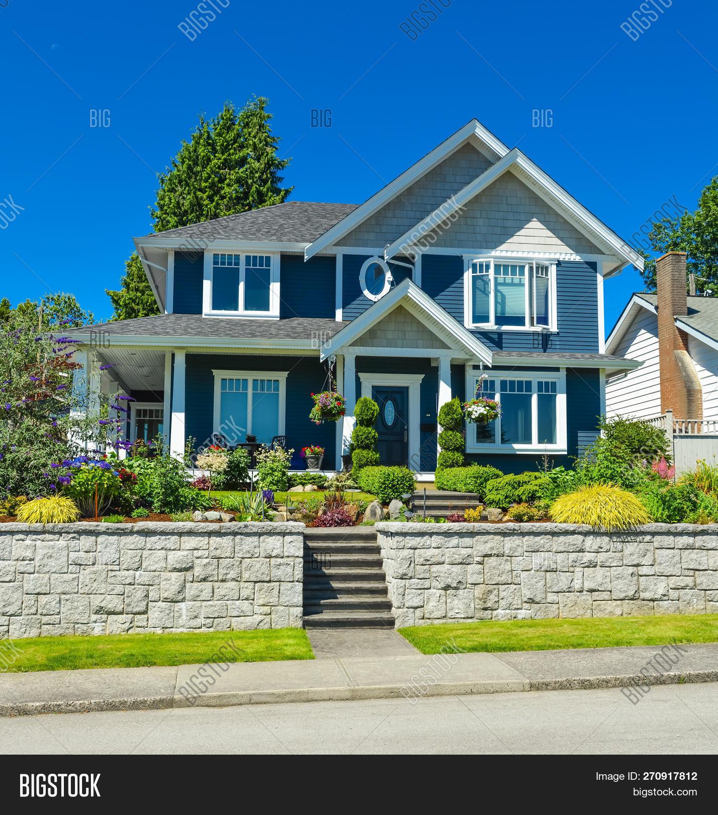 Luxury Family House Image Photo Free Trial Bigstock